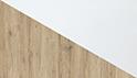 effetto quercia naturale, bianco lucido