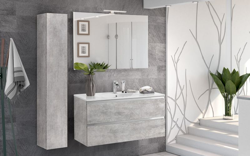 Componibile bagno beton grey - Vittoria |  I3SO 01
