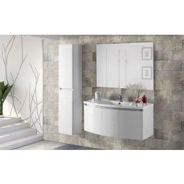 Edera Componibile Bagno Sospeso Bianco Lucido Misure 100x48x115 Cm Arredo Bagno Ihq1