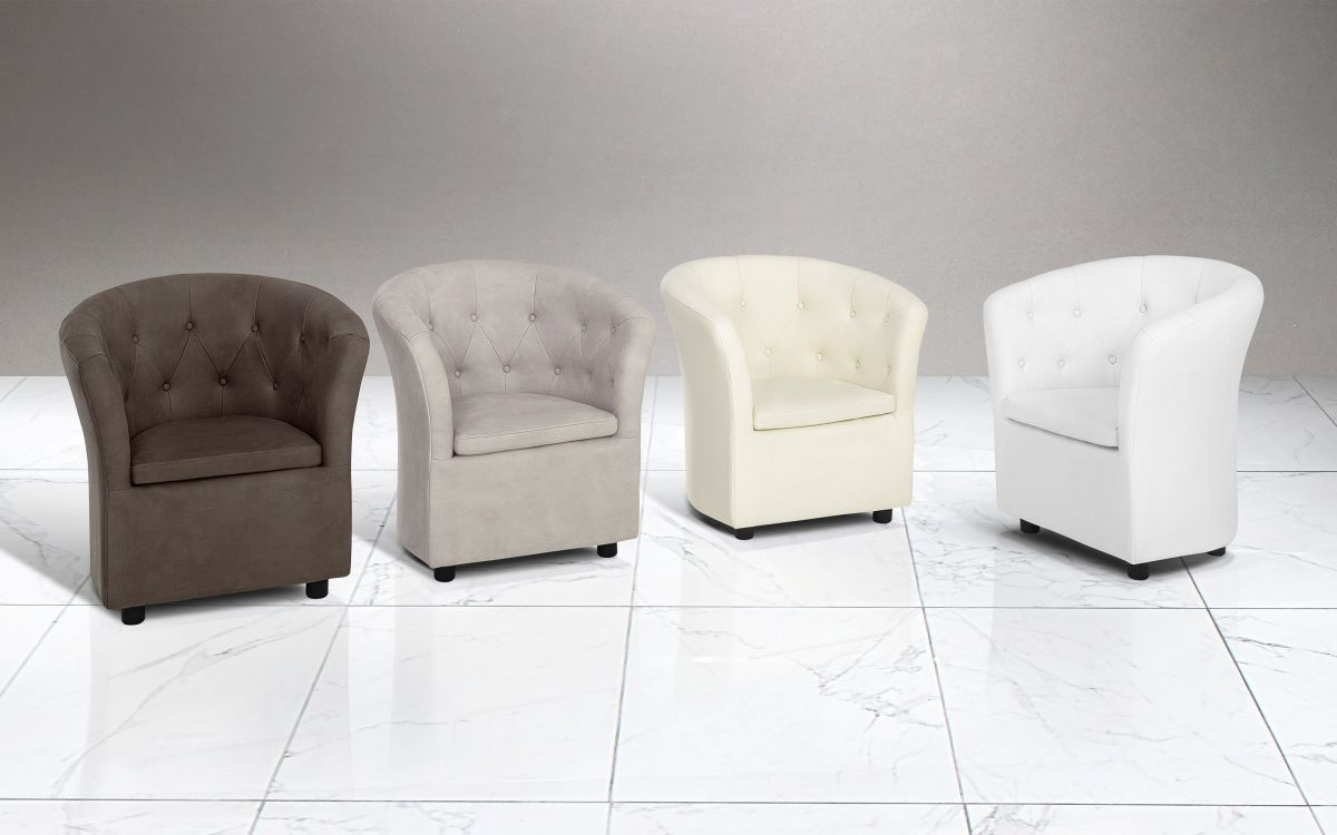 Poltroncina Similpelle effetto nabuk light grey - Poltroncina |  BAE6 01