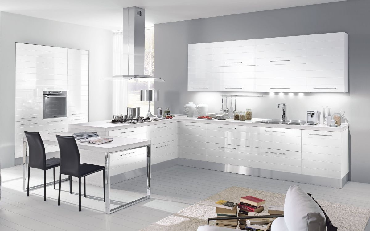 Cucina componibile, bianco lucido | : Time N0AR