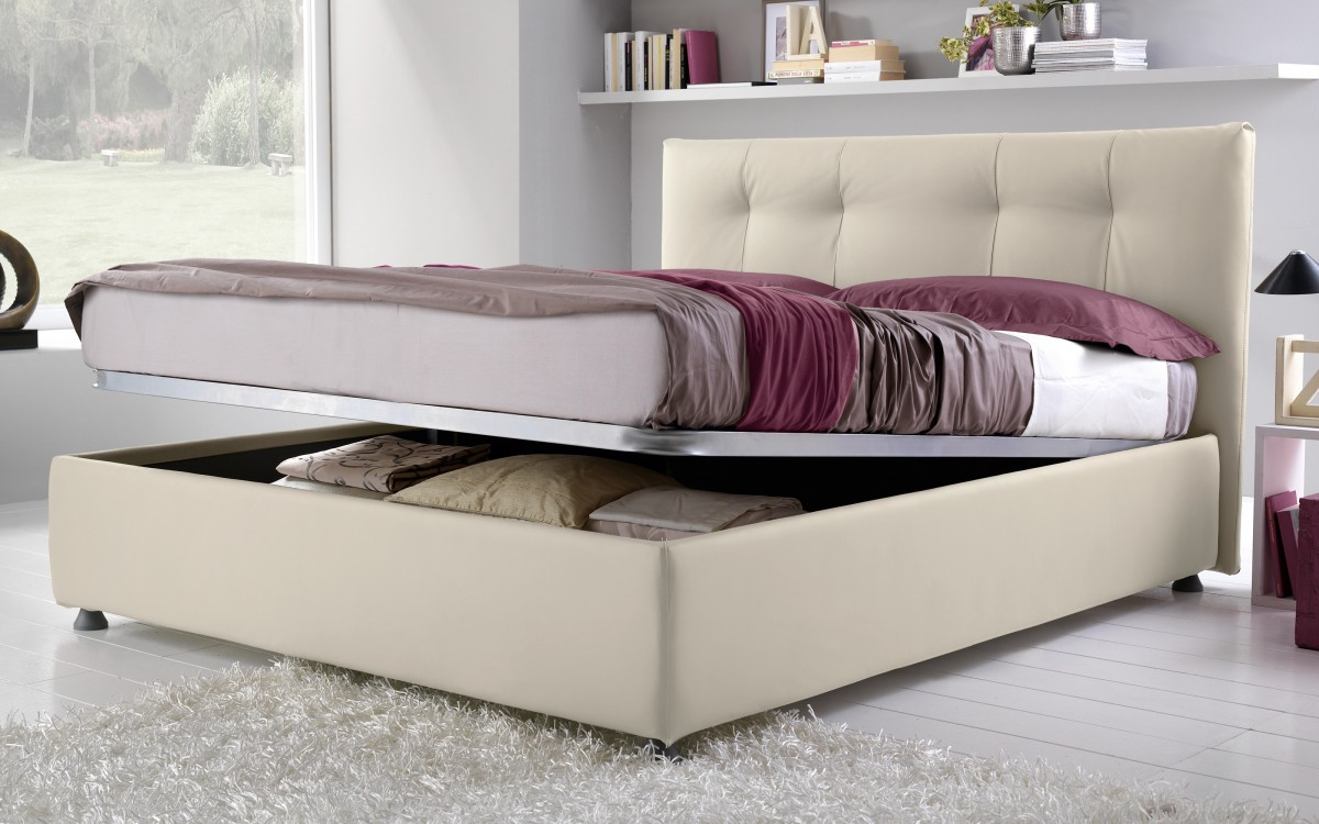 Letto matrimoniale Similpelle lino -  |  N4PS 01