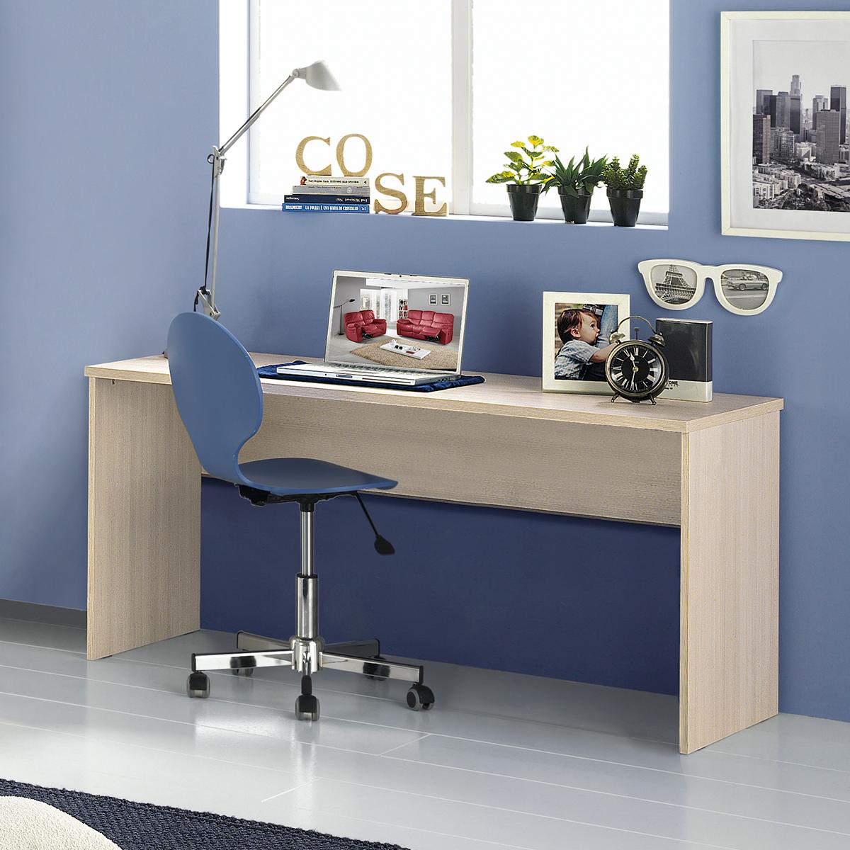 Cameretta componibile effetto pino chiaro cielo - Mondo convenienza scrivanie ufficio ...