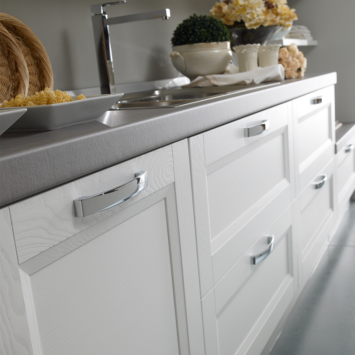 Cucina componibile, bianco | : Ginevra EP0A