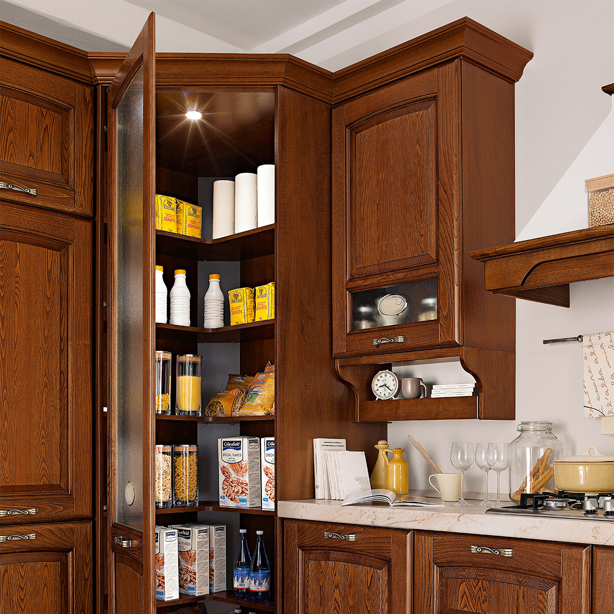 Cucina componibile, effetto castagno | : Lucrezia H7ZA