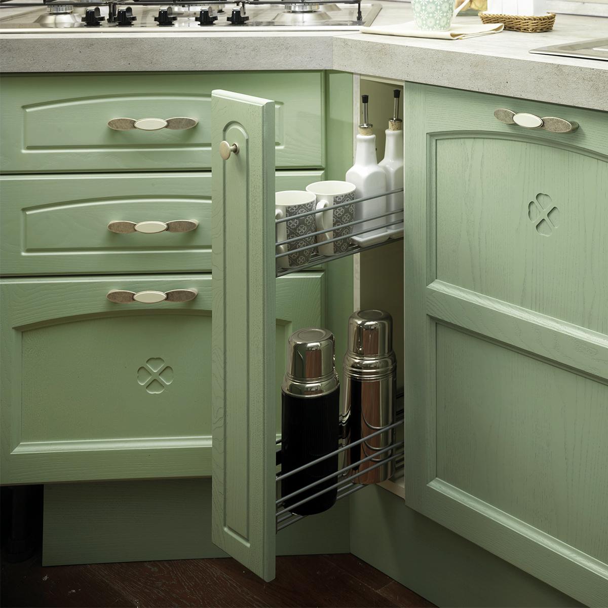 Cucina componibile verde patinato carmen 0b2b - Colori adatti alla cucina ...