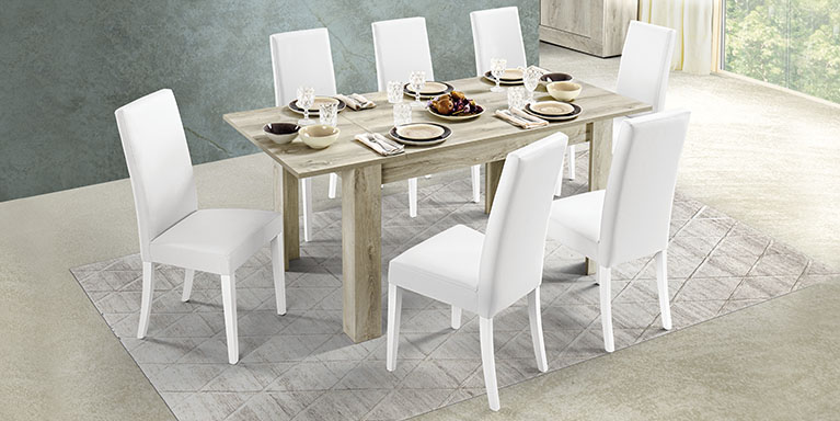 Dafne Italian Design Tavolo allungabile Cemento (cm. 130 x