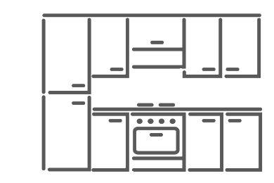 il prezzo delle cucine riferito alla composizione tipo cucina standard lunga 255 cm profonda 60 cm alta 215 cm completa di elettrodomestici